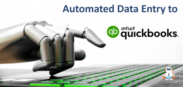 Automated Data Entry to QuickBooks Online using artificial